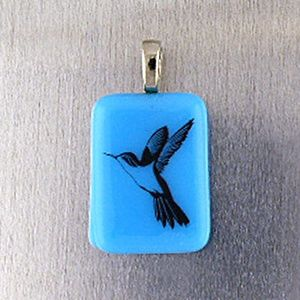 Fused Glass Pendant Hand Crafted by SantaFeKiss